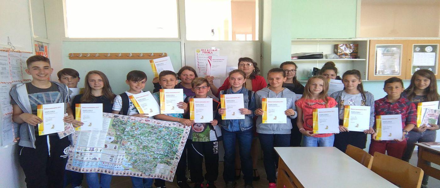 Matematički izazov Klokan: Spisak nagrađenih učenika